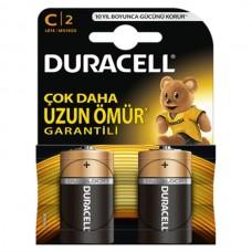 DURACELL C SİZE ALKALİN ORTA BOY PİL 2 Lİ 6747